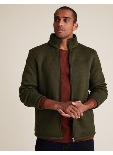 Marks & Spencer Fermuarlı Polar Ceket Yeşil